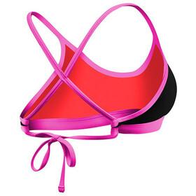 TYR Solid Crosscut Bikini Top Atado Atrás Mujer, black/pink